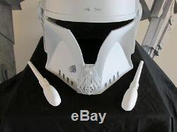 Star Wars Mando Merc Mandowar Mandalorian Cosplay Helmet Prop 2/3 T Visor lot