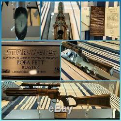 Star Wars Master Replicas Boba Fett Blaster ROTJ EPVI Limited Edition 11 Rare
