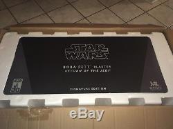 Star Wars Master Replicas ROTJ Boba Fett Blaster Signature Edition