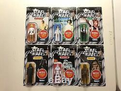 Star Wars Retro Collection Case 6pcs Vintage TVC with Hasbro Box Target Exclusive