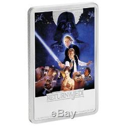 Star Wars Return of the Jedi 1 oz Silver Movie Poster Proof Coin