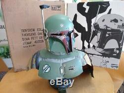 Star Wars Sideshow Life Size Boba Fett Bust Statue Prop Replica The Mandalorian
