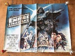 Star Wars The Empire Strikes Back Original Vintage UK Quad C6-C7
