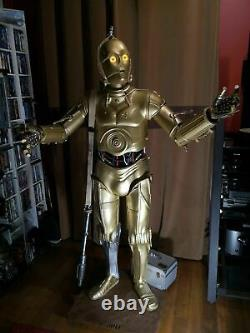 Star wars life size c3p0 prop fiberglass 11 straight from the mold raw parts