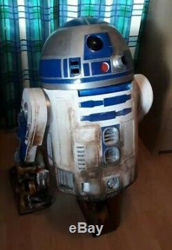 Star wars painted life size r2d2 prop fiberglass 11