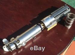 Starwars Luke Skywalker ESB Custom Lightsaber Graflex Crystal Chamber
