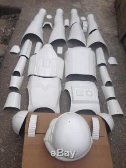Starwars Stormtrooper armour sections fibreglass full size (less helmet)