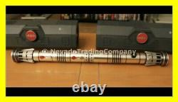 TWO SEALED STAR WARS GALAXY'S EDGE DARTH MAUL LEGACY LIGHTSABER WithBONUS MAPGUIDE