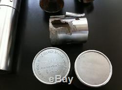 Vintage Graflex flash, Exactra calculator / Lightsaber parts collection