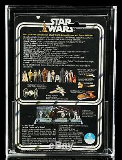 Vintage Star Wars Darth Vader 1978 Figure 12 Back B MOC AFA Graded 85 Kenner