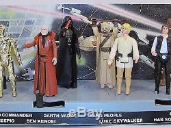 Vintage Star Wars Display Mail Away Stand & First 12 Action Figures Kenner LOOK