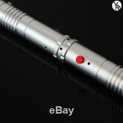 YDD 2Pcs Lightsaber Sword Darth Maul Heavy Dueling Sliver Hilt Force USB Cosplay