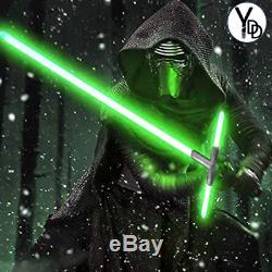 YDD Lightsaber Cross Sword Dueling Silver Hilt Force Jedi Cosplay Sound Effect