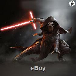 YDD Lightsaber Cross Sword Heavy Dueling Black Hilt Jedi Cosplay Sound Effect